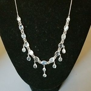 Stylish Sterling Silver Moonstone Necklace